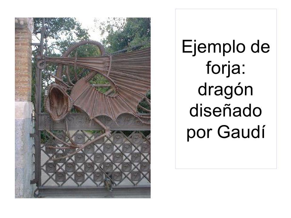 Ejemplo de forja: dragón diseñado por Gaudí