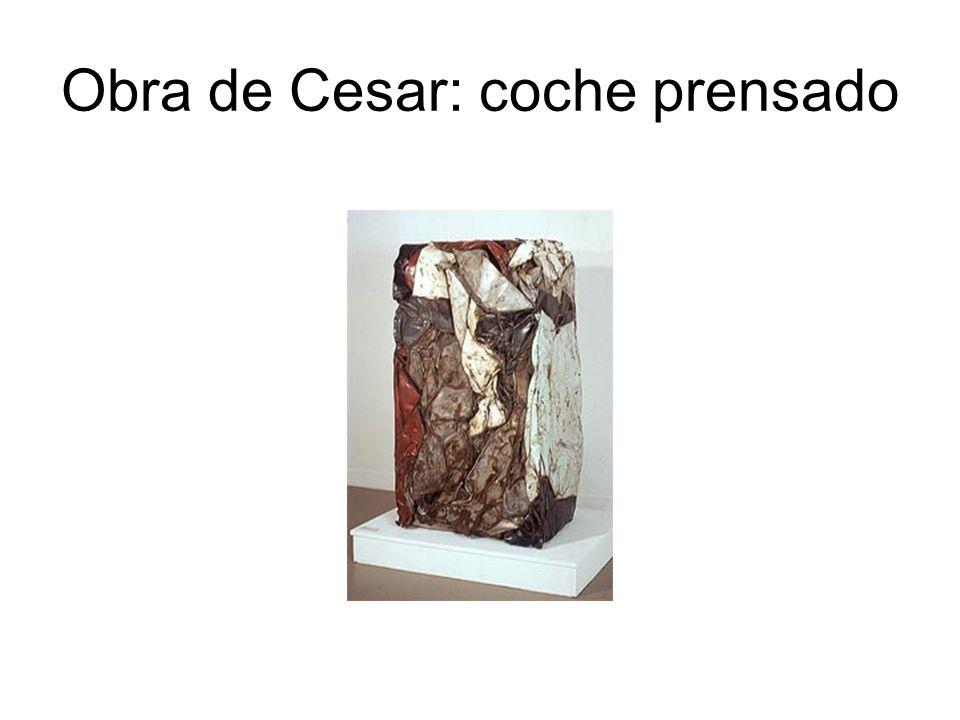 Obra de Cesar: coche prensado