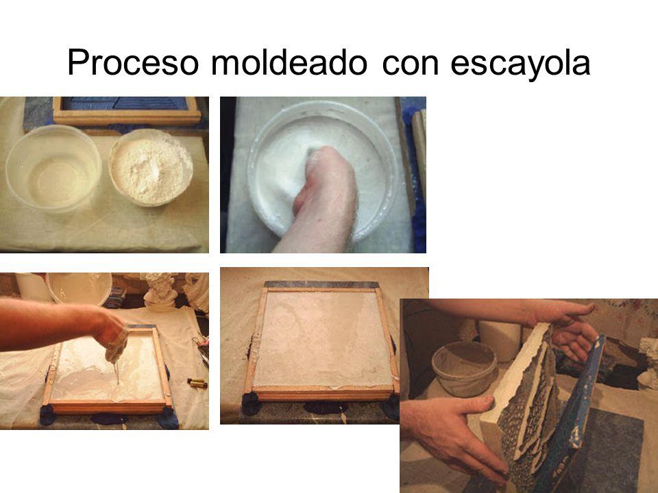 Proceso moldeado con escayola