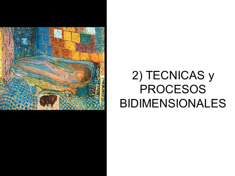 2) TECNICAS y PROCESOS BIDIMENSIONALES