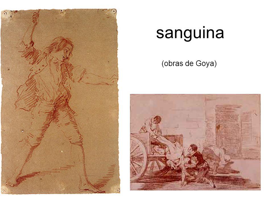 sanguina (obras de Goya)