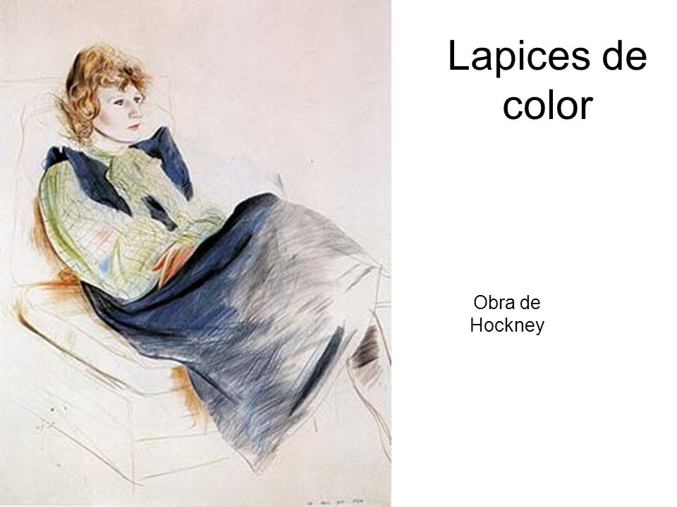 Lapices de color Obra de Hockney