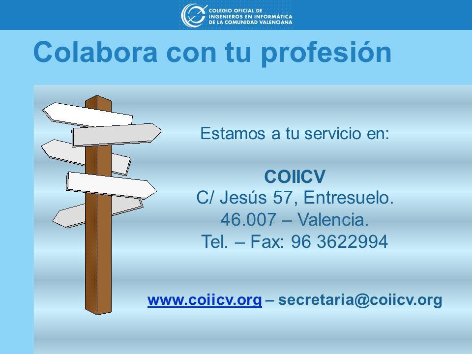 www.coiicv.org – secretaria@coiicv.org