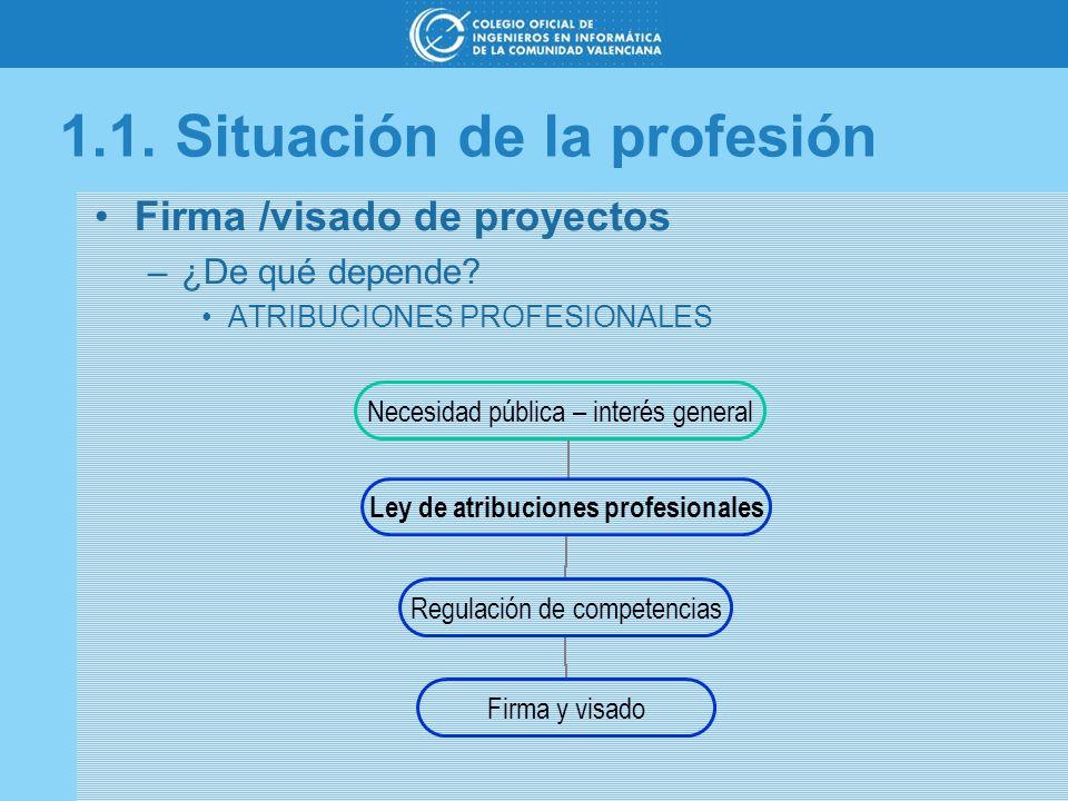 1.1. Situación de la profesión