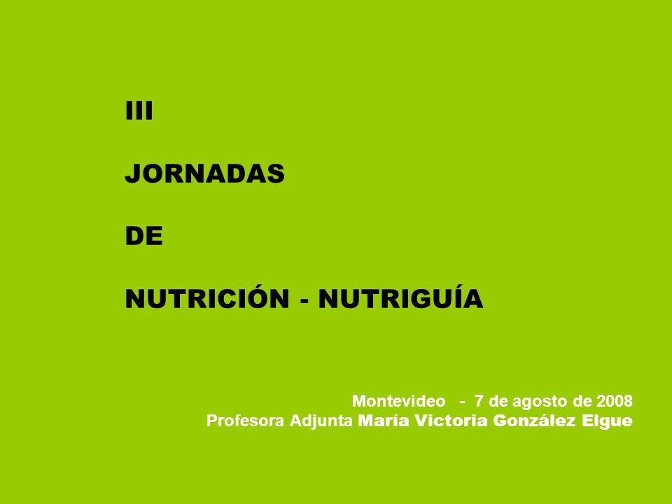III JORNADAS DE NUTRICIÓN - NUTRIGUÍA