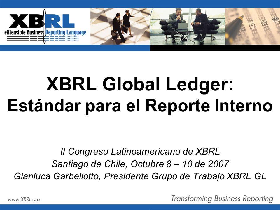XBRL Global Ledger: Estándar para el Reporte Interno