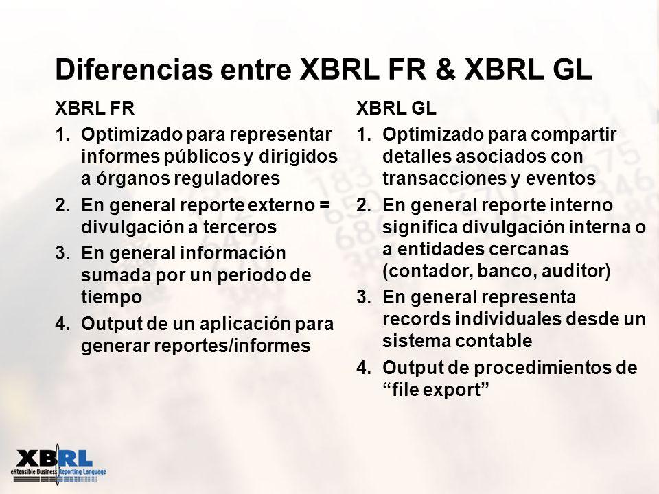 Diferencias entre XBRL FR & XBRL GL