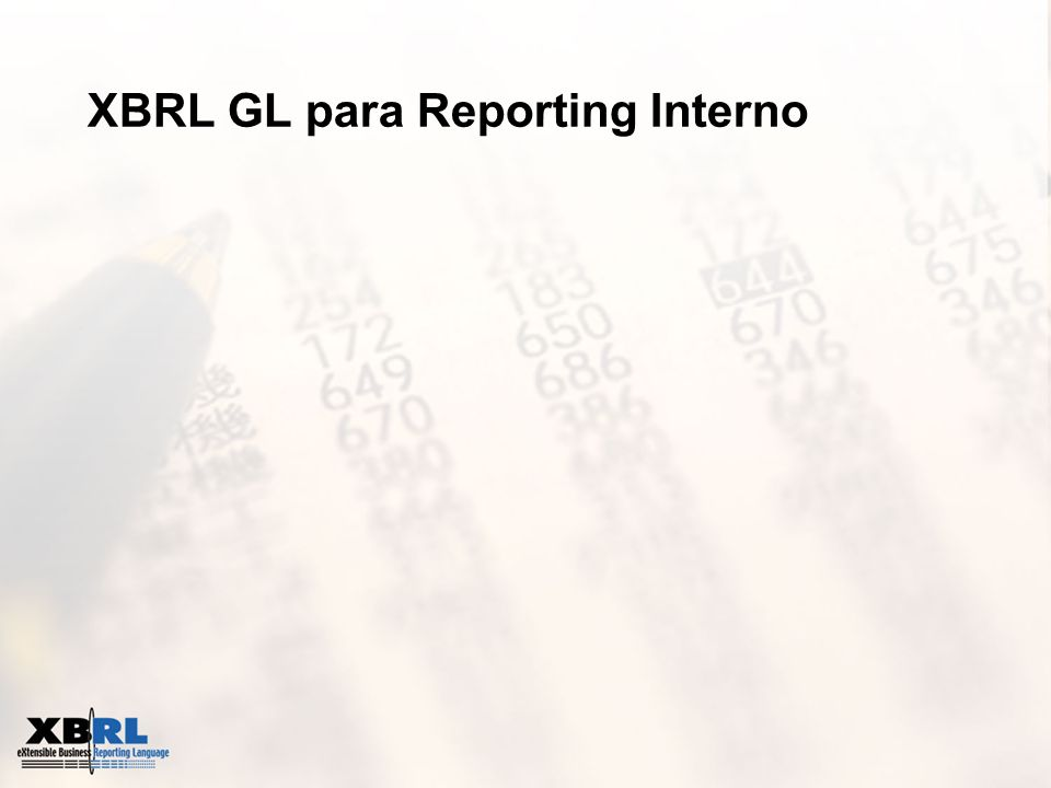XBRL GL para Reporting Interno