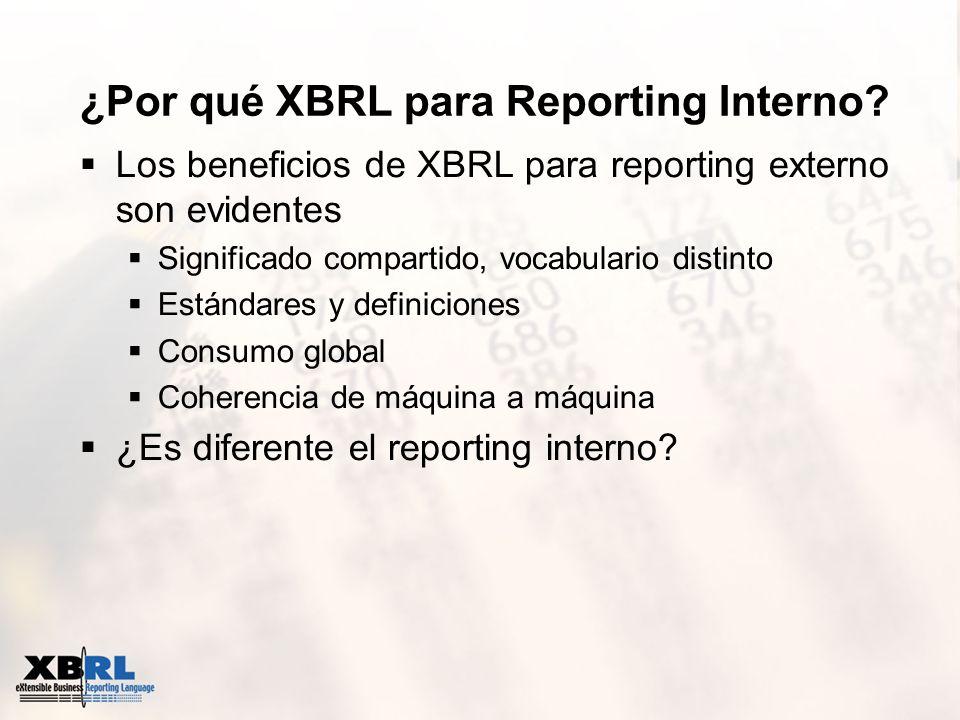 ¿Por qué XBRL para Reporting Interno