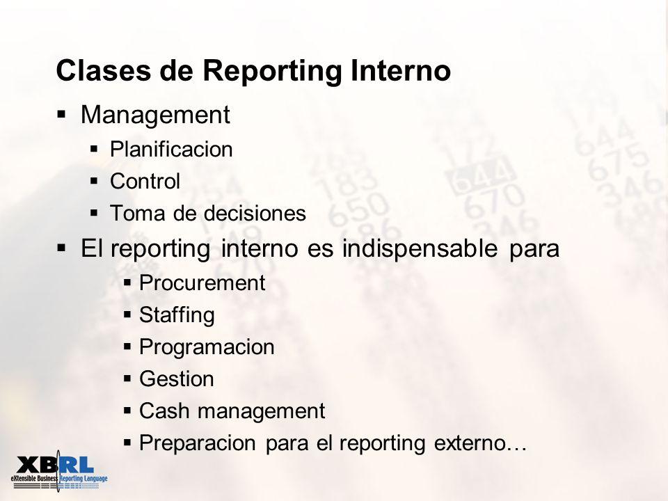 Clases de Reporting Interno