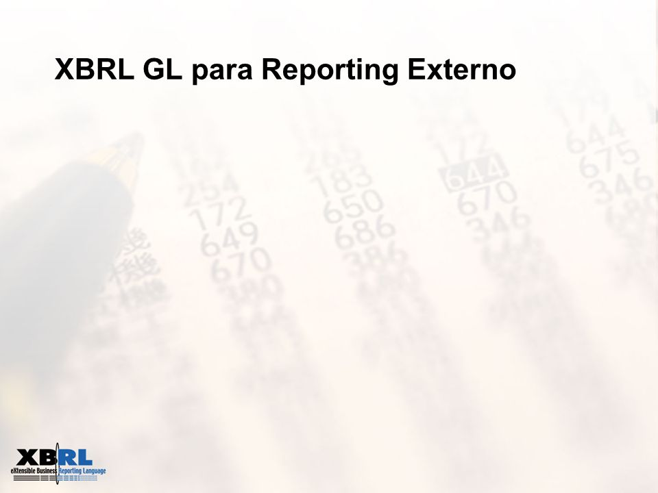 XBRL GL para Reporting Externo