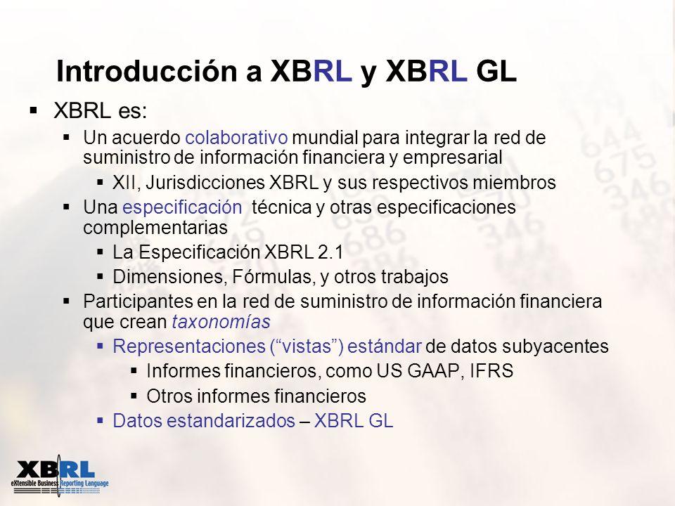 Introducción a XBRL y XBRL GL