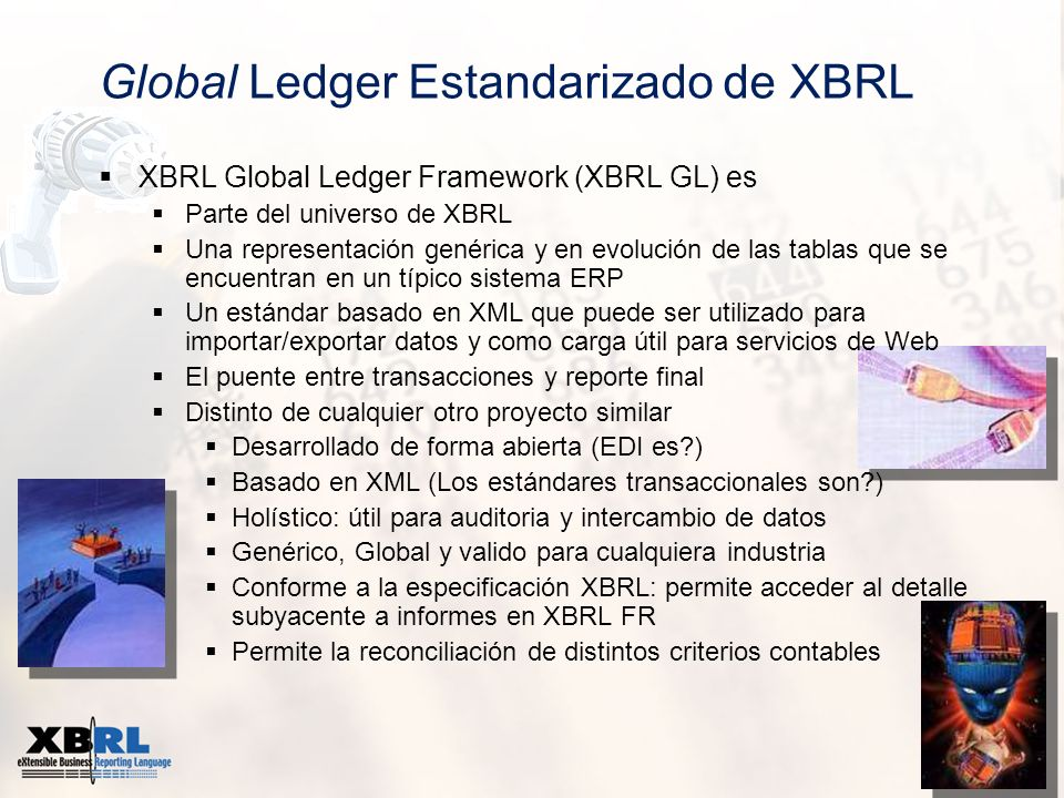 Global Ledger Estandarizado de XBRL