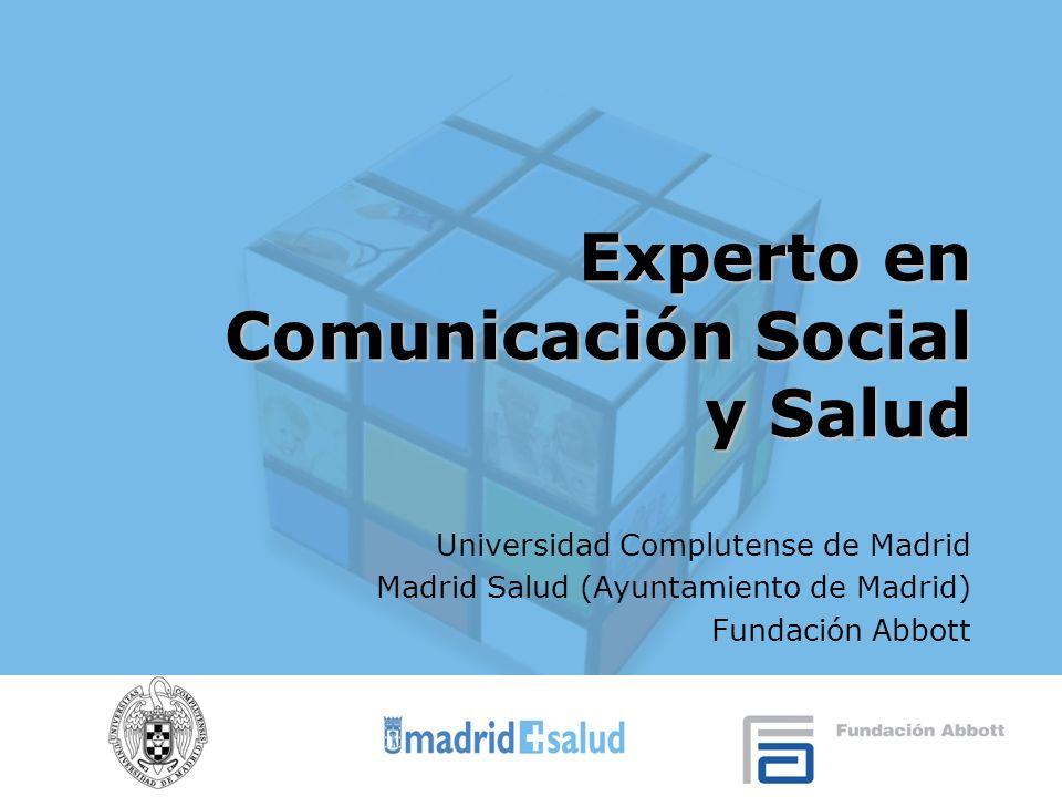 Experto en Comunicación Social y Salud