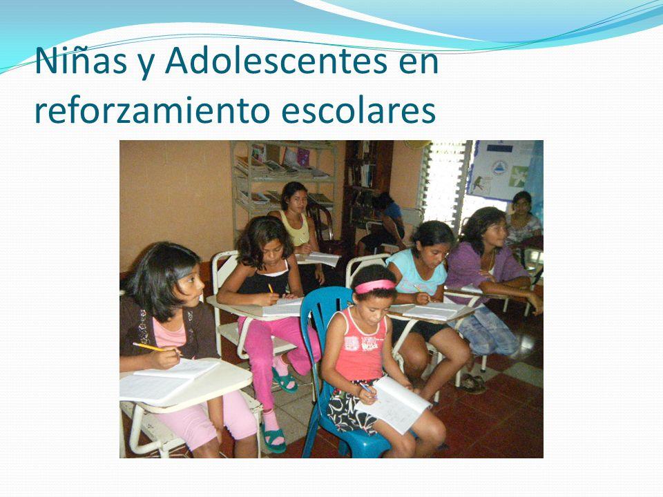 Niñas y Adolescentes en reforzamiento escolares