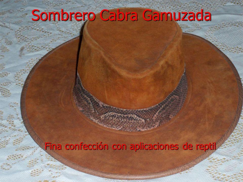 Sombrero Cabra Gamuzada