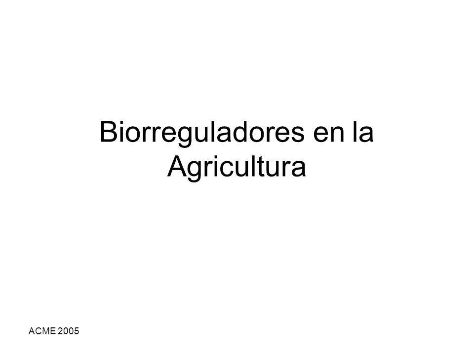 Biorreguladores en la Agricultura