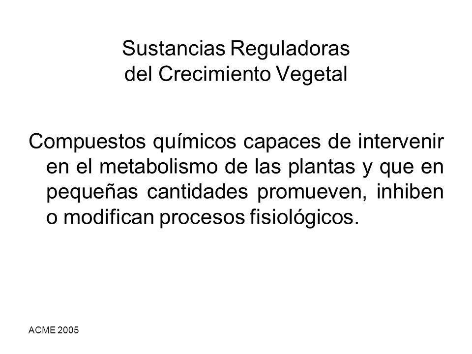 Sustancias Reguladoras del Crecimiento Vegetal