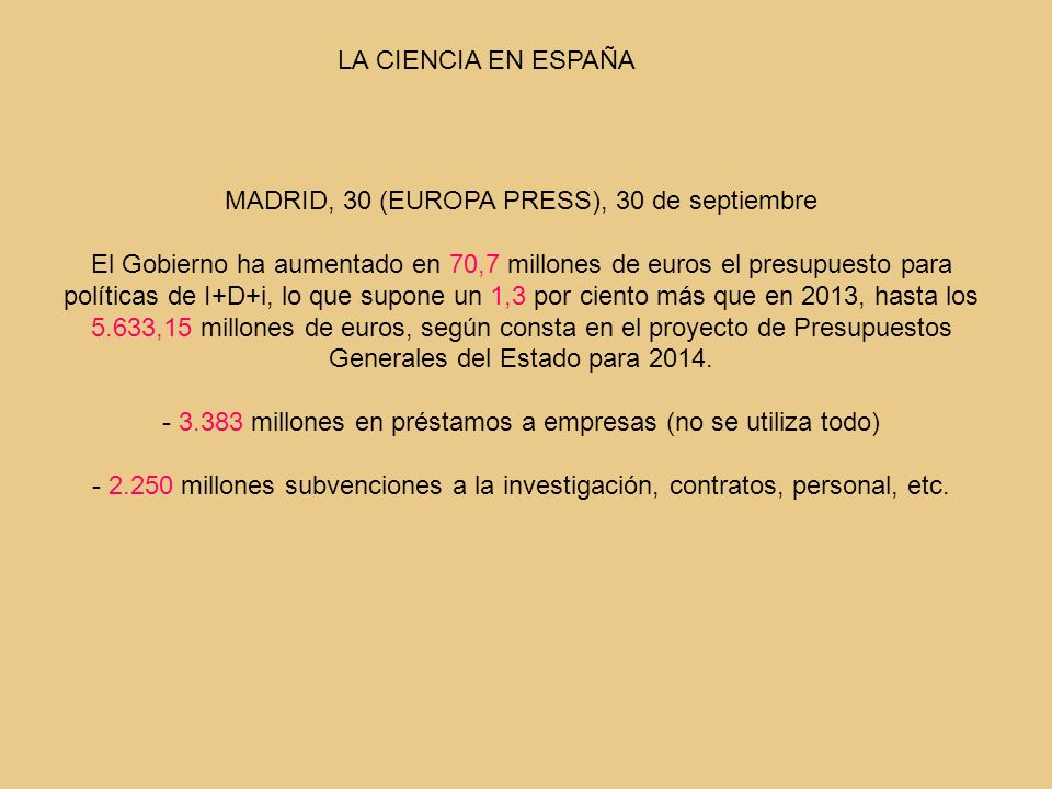 MADRID, 30 (EUROPA PRESS), 30 de septiembre