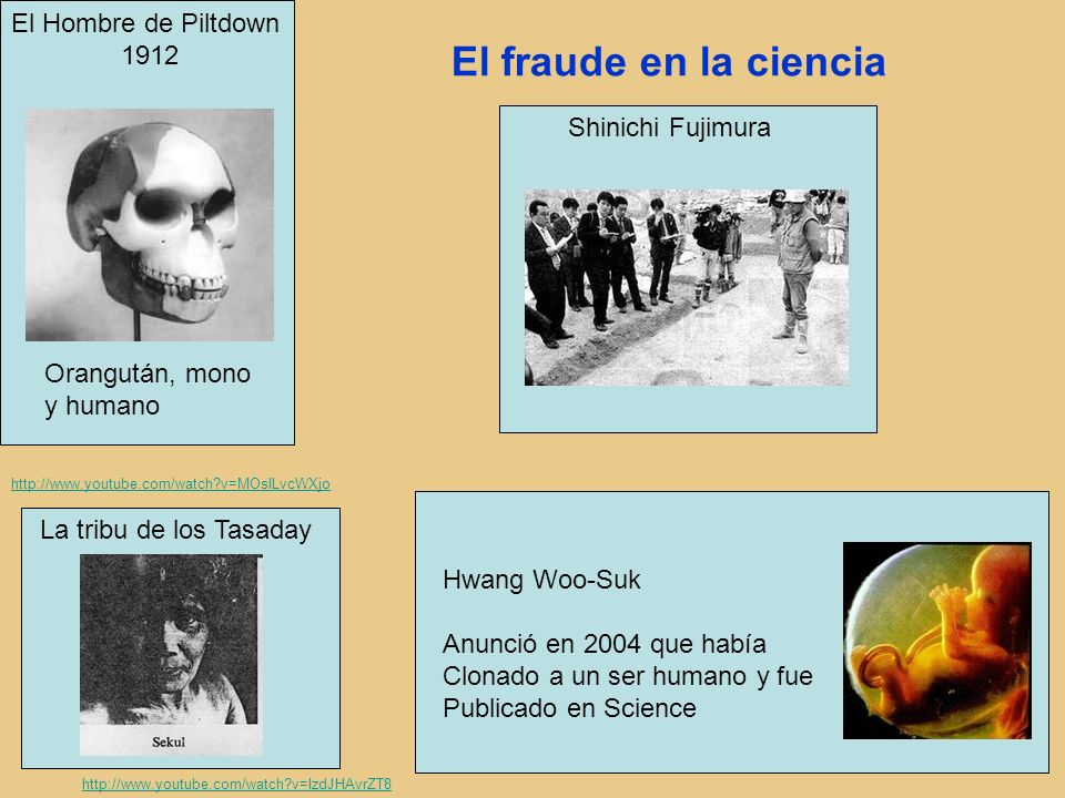 El fraude en la ciencia El Hombre de Piltdown 1912 Shinichi Fujimura