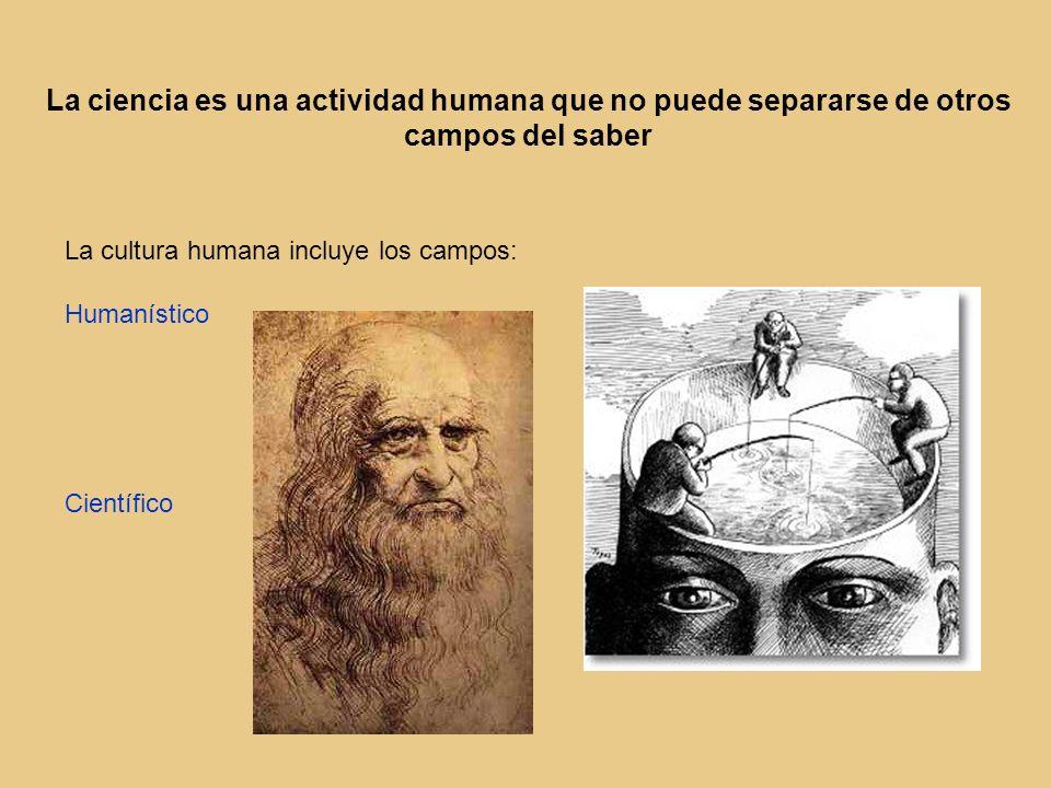 La ciencia es una actividad humana que no puede separarse de otros