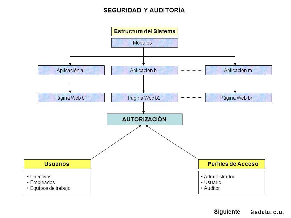 SEGURIDAD Y AUDITORÍA Sisdata, c.a.