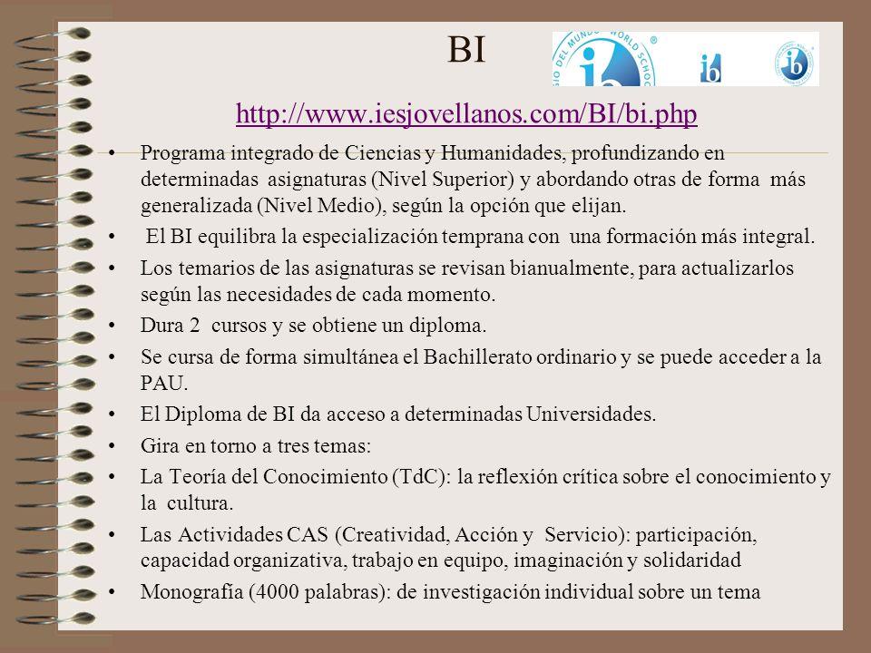 BI http://www.iesjovellanos.com/BI/bi.php