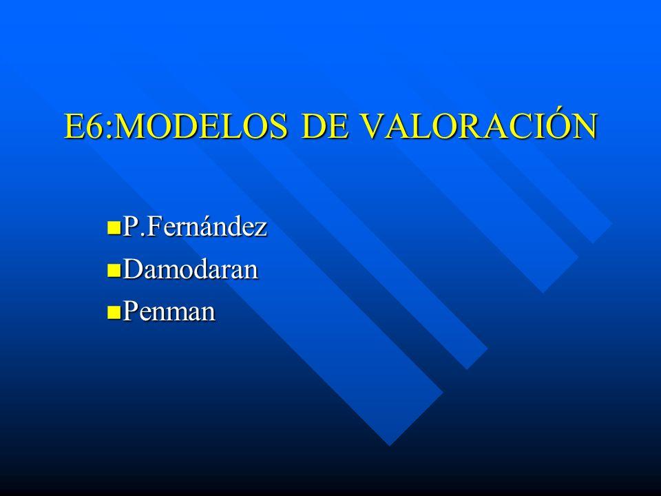 E6:MODELOS DE VALORACIÓN