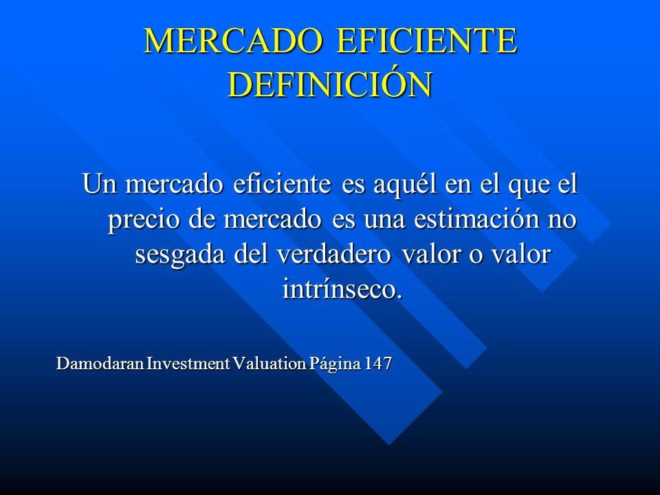 MERCADO EFICIENTE DEFINICIÓN