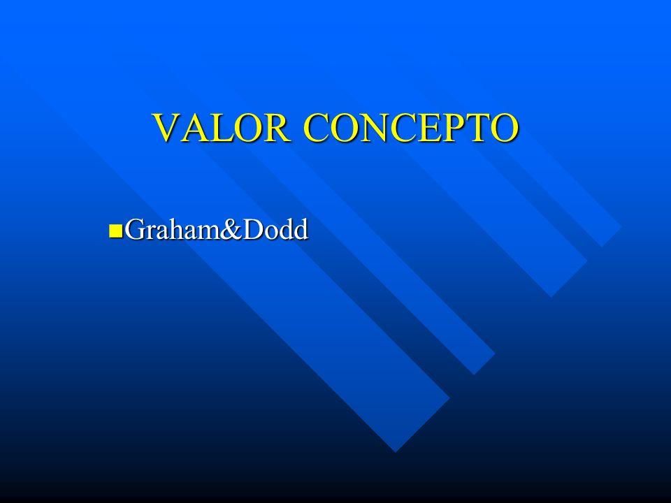 VALOR CONCEPTO Graham&Dodd