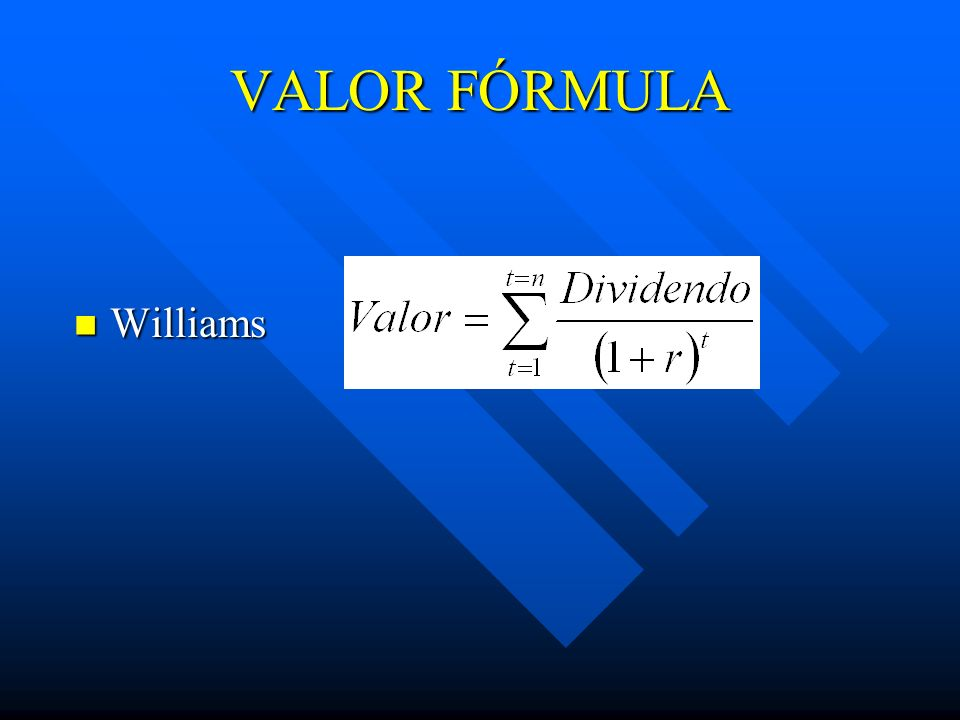 VALOR FÓRMULA Williams