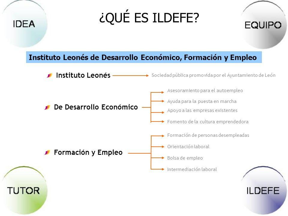 ¿QUÉ ES ILDEFE Instituto Leonés de Desarrollo Económico, Formación y Empleo. Instituto Leonés.