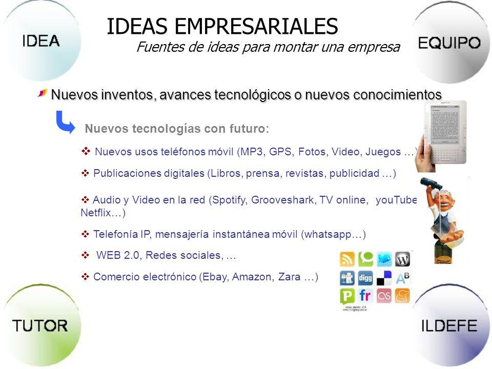IDEAS EMPRESARIALES Fuentes de ideas para montar una empresa