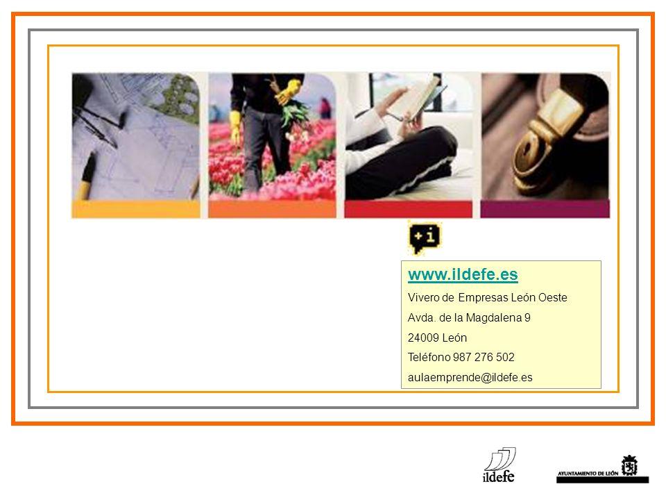 www.ildefe.es Vivero de Empresas León Oeste Avda. de la Magdalena 9