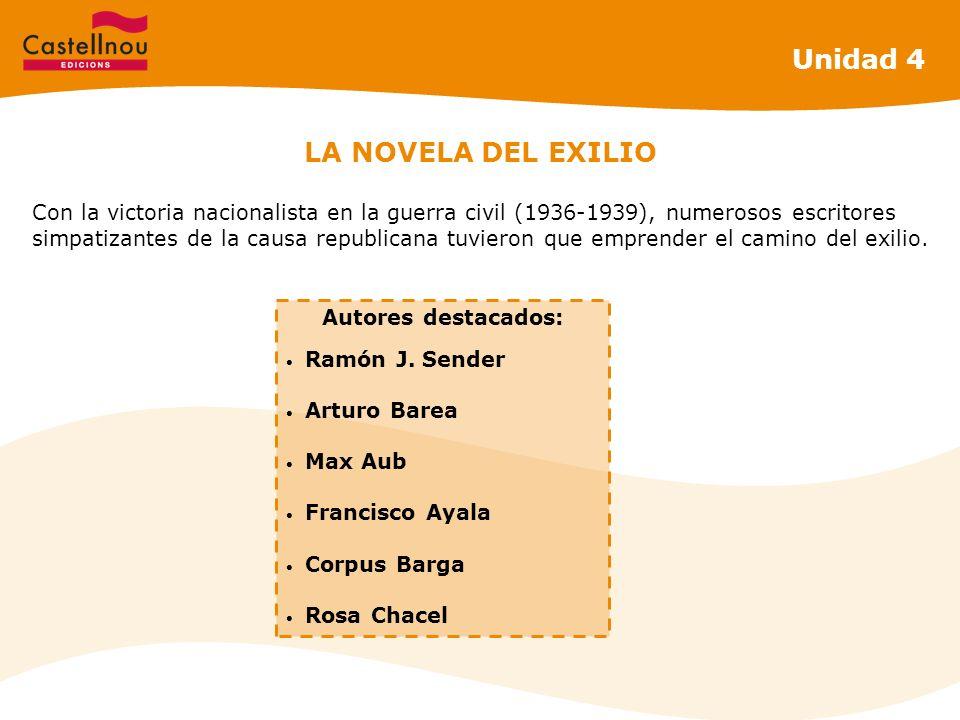 Unidad 4 LA NOVELA DEL EXILIO