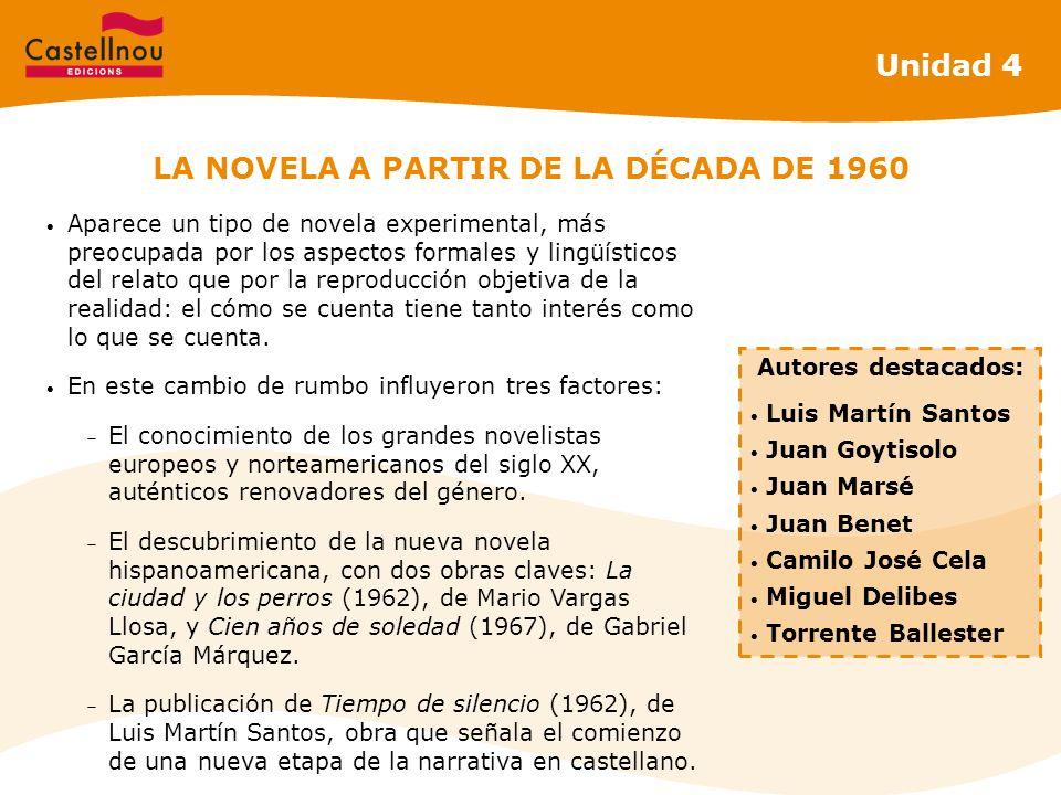 LA NOVELA A PARTIR DE LA DÉCADA DE 1960