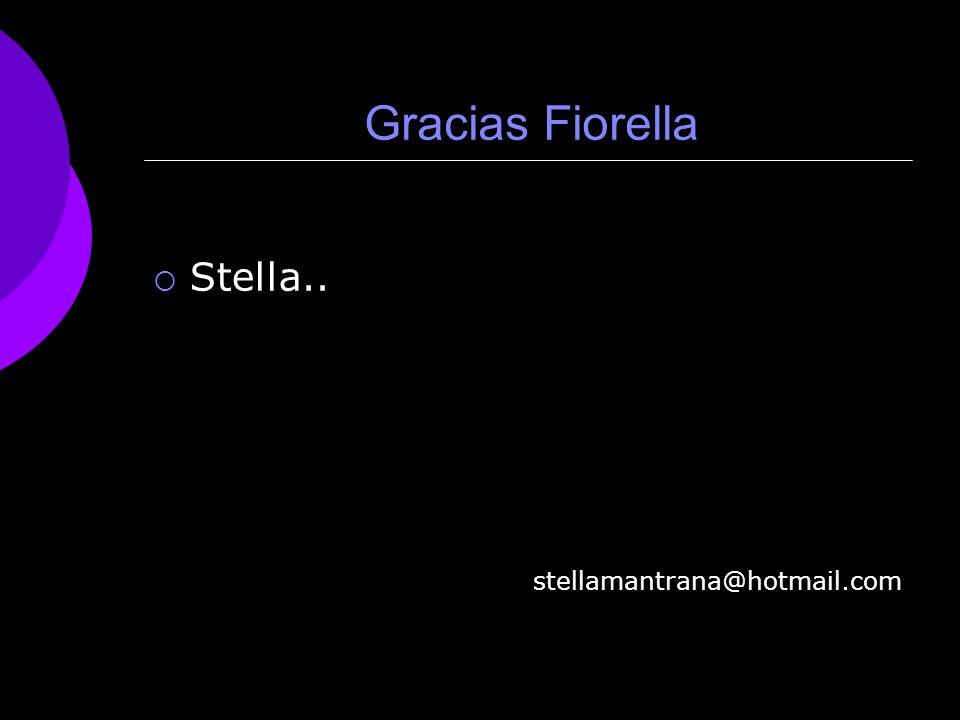 Gracias Fiorella Stella.. stellamantrana@hotmail.com