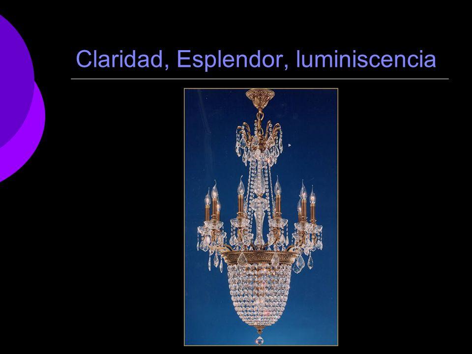 Claridad, Esplendor, luminiscencia