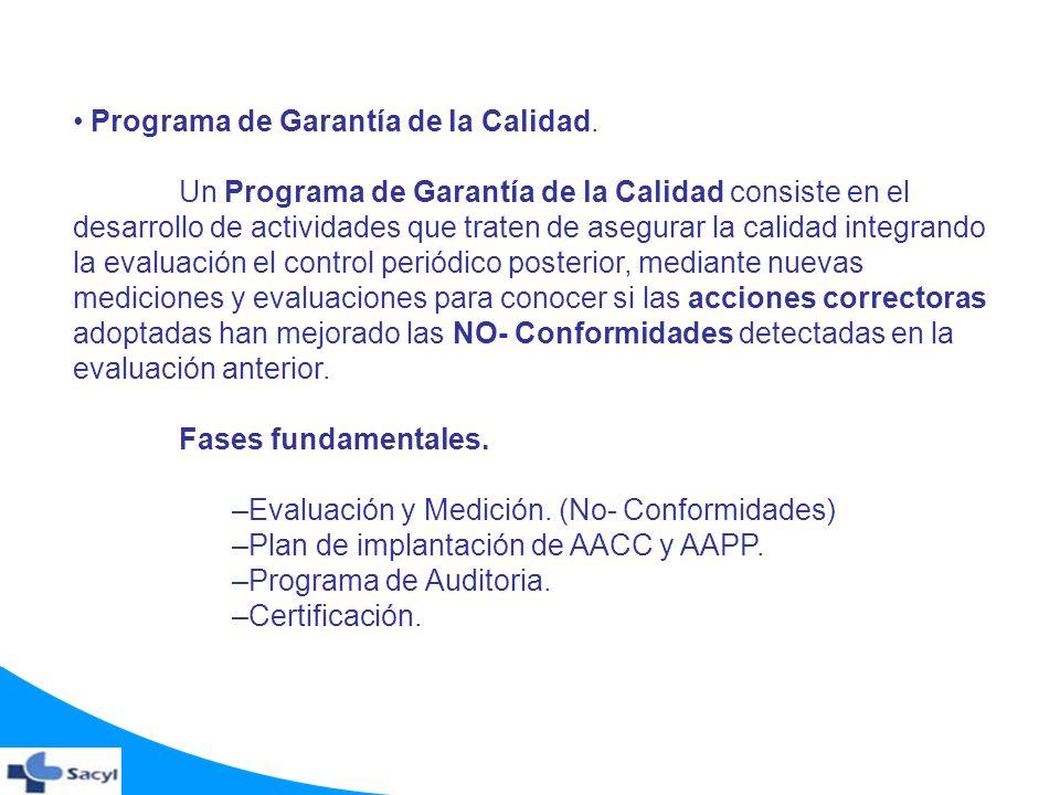 Programa de Garantía de la Calidad.