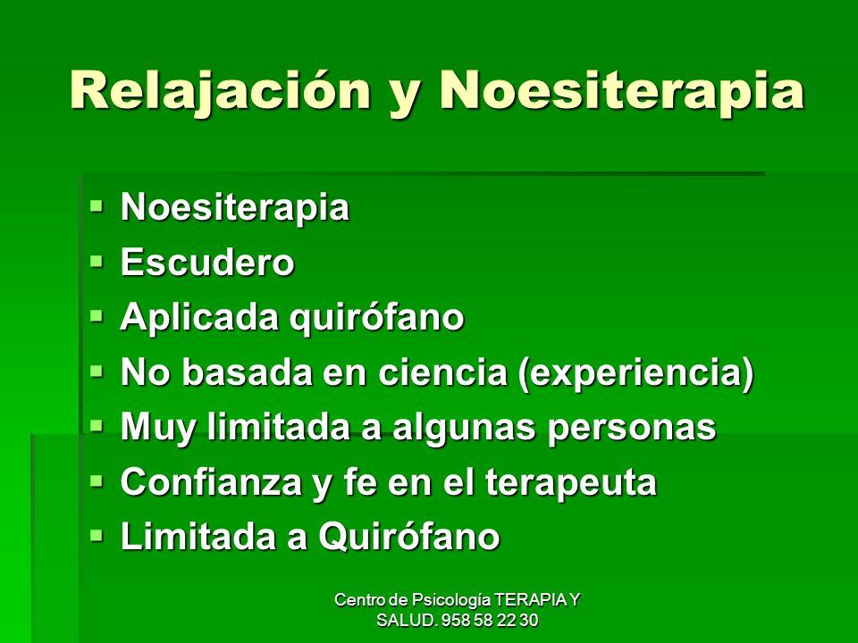 Relajación y Noesiterapia