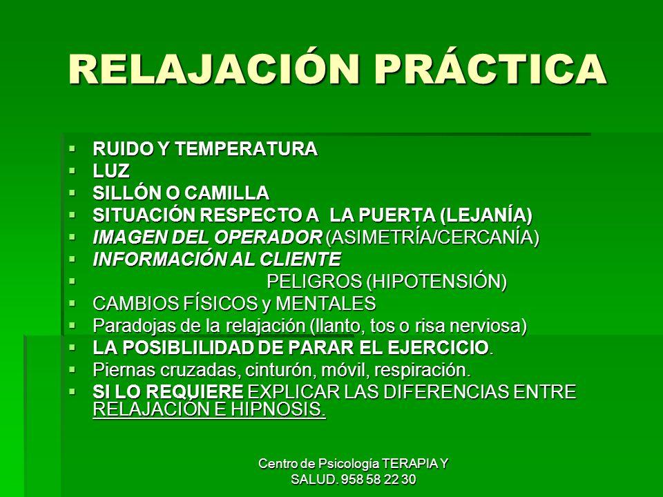 Centro de Psicología TERAPIA Y SALUD. 958 58 22 30