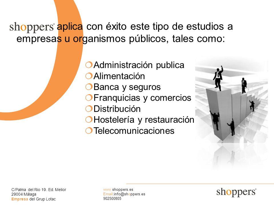 aplica con éxito este tipo de estudios a empresas u organismos públicos, tales como:
