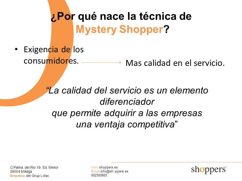 ¿Por qué nace la técnica de Mystery Shopper