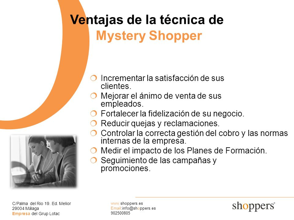 Ventajas de la técnica de Mystery Shopper