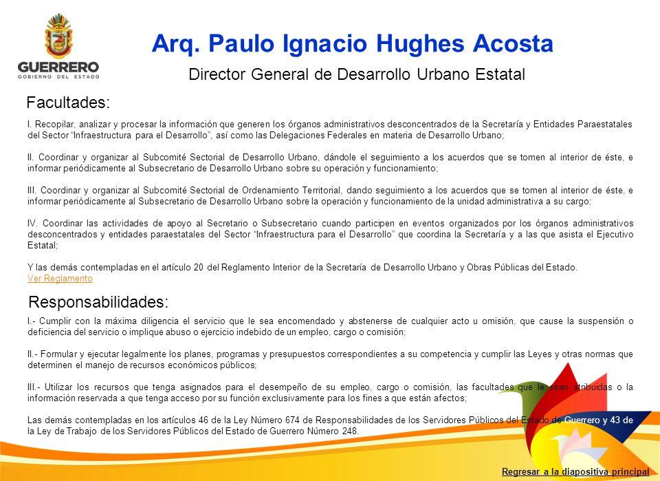 Arq. Paulo Ignacio Hughes Acosta