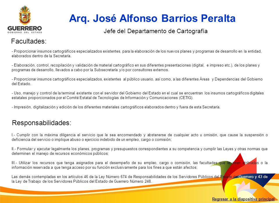 Arq. José Alfonso Barrios Peralta