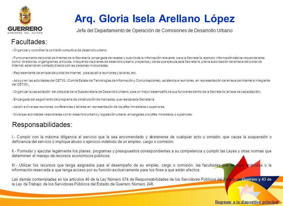 Arq. Gloria Isela Arellano López