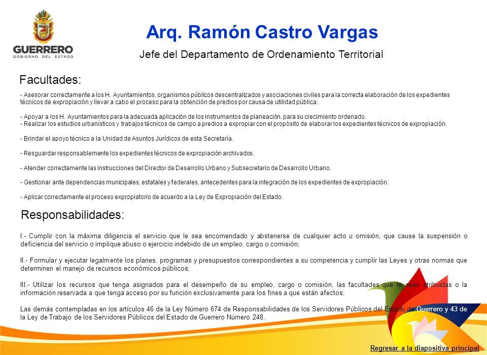 Arq. Ramón Castro Vargas