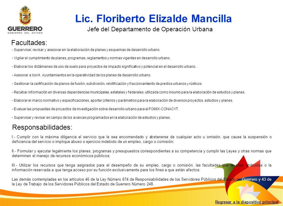 Lic. Floriberto Elizalde Mancilla