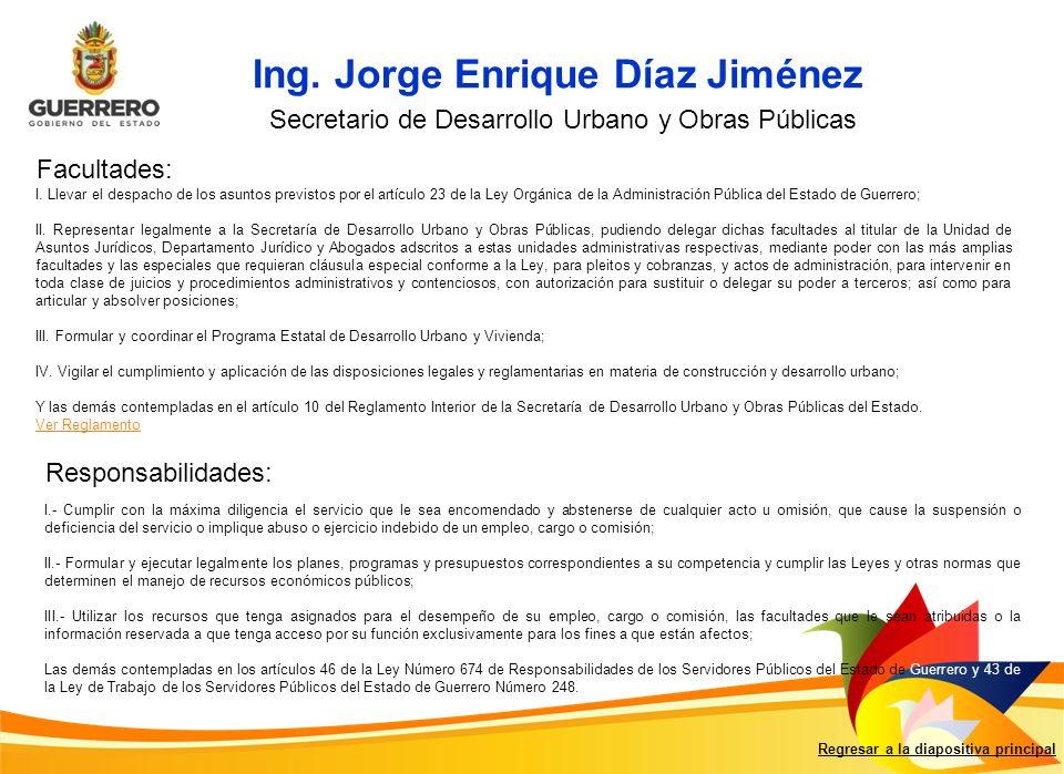 Ing. Jorge Enrique Díaz Jiménez